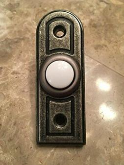 Hampton Bay Wired Lighted Door Bell Push Button, Antique Pew