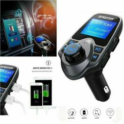 Auto Hands Free Bluetooth Wireless Car AUX Audio Receiver FM