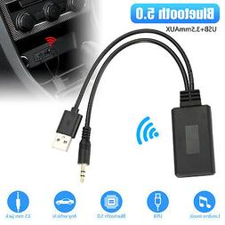 Auto Hands Free Bluetooth Wireless Car AUX Audio Receiver FM