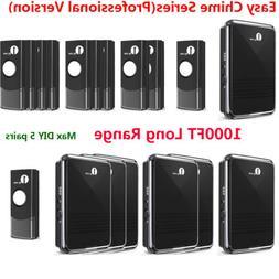 1byone Battery Operated Wireless Doorbell Receiver + Transmi