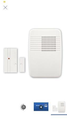 2 x Utilitech White Wireless DoorBell Alarm