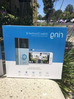 Brand New Ring Video Doorbell 2 Newest Version Satin Nickel
