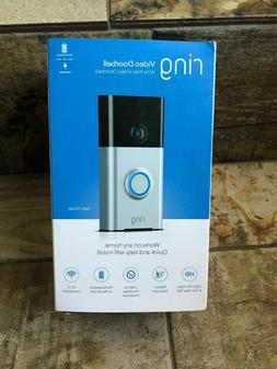 BRAND NEW! Ring Wi-Fi Enabled Video Doorbell in Satin Nickel