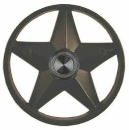 "Waterwood Brass Lone Star 3 1/4"" Doorbell in Black"