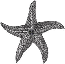 Waterwood Brass Starfish Doorbell in Pewter