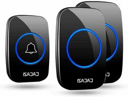 Wireless Doorbell Home CACAZI Plug-in Door Chime LED Flash 1
