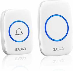 CACAZI Wireless Doorbell 300M Long Range Waterproof LED Door