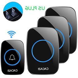 Chilie CACAZI A10-3 Wireless Doorbell Waterproof 300M Remote