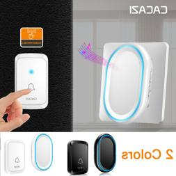 CACAZI Wireless Smart WiFi LED DoorBell Home Security Kit Ba