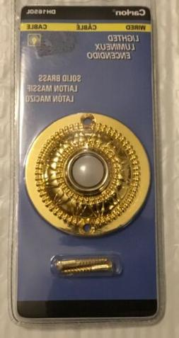 Carlon Polished Brass Wired Push-Button for Door Bell no. DH