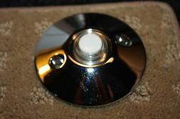 Chrome doorbell button decorator Baldwin Emtek Nutone doorbe