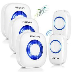 PHYSEN Circle Style Wireless Doorbell Kit of 3 Door Chime an