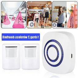 Wireless Doorbell Battery Operated Door Home Bell With 2 Mot