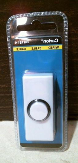 Carlon DH1814 Wired DoorBell Push Button, White, FREE SHIPPI