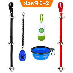Manfiter Dog Doorbell for Potty Training with Collapsible Do