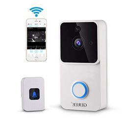 Video Doorbell, GEREE 720P HD Smart Doorbell Indoor Home Sec