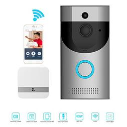 Awakingdemi Video Doorbell, Smart Doorbell 720P HD WiFi Secu