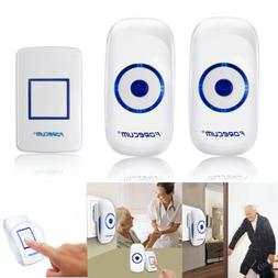 Doorbell Wireless 2Plug in Receiver 1 Battery Operated Butto