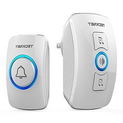 Doorbell TeckNet Wireless Door Bell Chime with LED Light 1 R