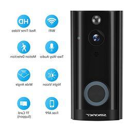 Doorbell Camera Wireless, SMONET WiFi Smart Doorbell, HD Sec