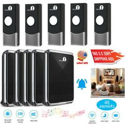 1byone Easy Chime Wireless Doorbell Door Ring Kit with CD Qu