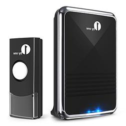 1byone Easy Chime Wireless Doorbell Kit, 1 Receiver & 1 Push