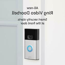 All-new Ring Video Doorbell – 1080p HD video Satin Nickel