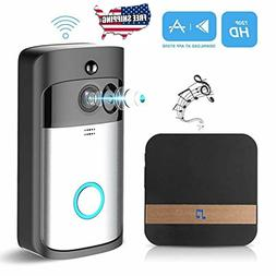 GJT Wireless Doorbell 720P HD Smart Camera Doorbell with Chi