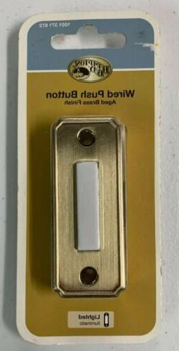 Hampton Bay HB-618-02 LIGHTED Wired Door Bell Push Button Ag