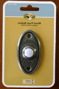 Hampton Bay HB-625-02 Wired Lighted Door Bell Push Button An