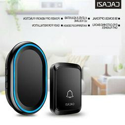 CACAZI Home Security Wireless Smart Waterproof Doorbell LED