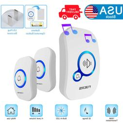 Home Wireless Doorbell Door Chime Battery Operated Plug in R