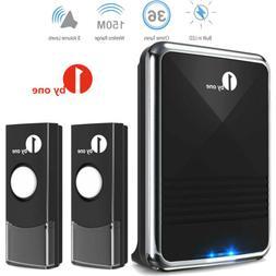 1byone Home Wireless Doorbell Battery Operated Door Bell Tra