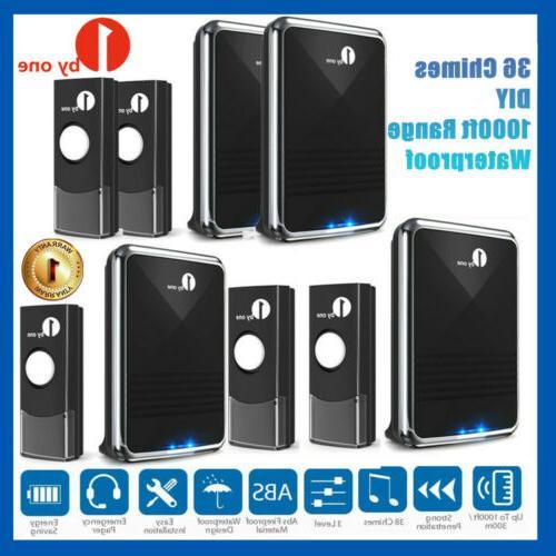 1000ft twin wireless doorbell 36 chimes door
