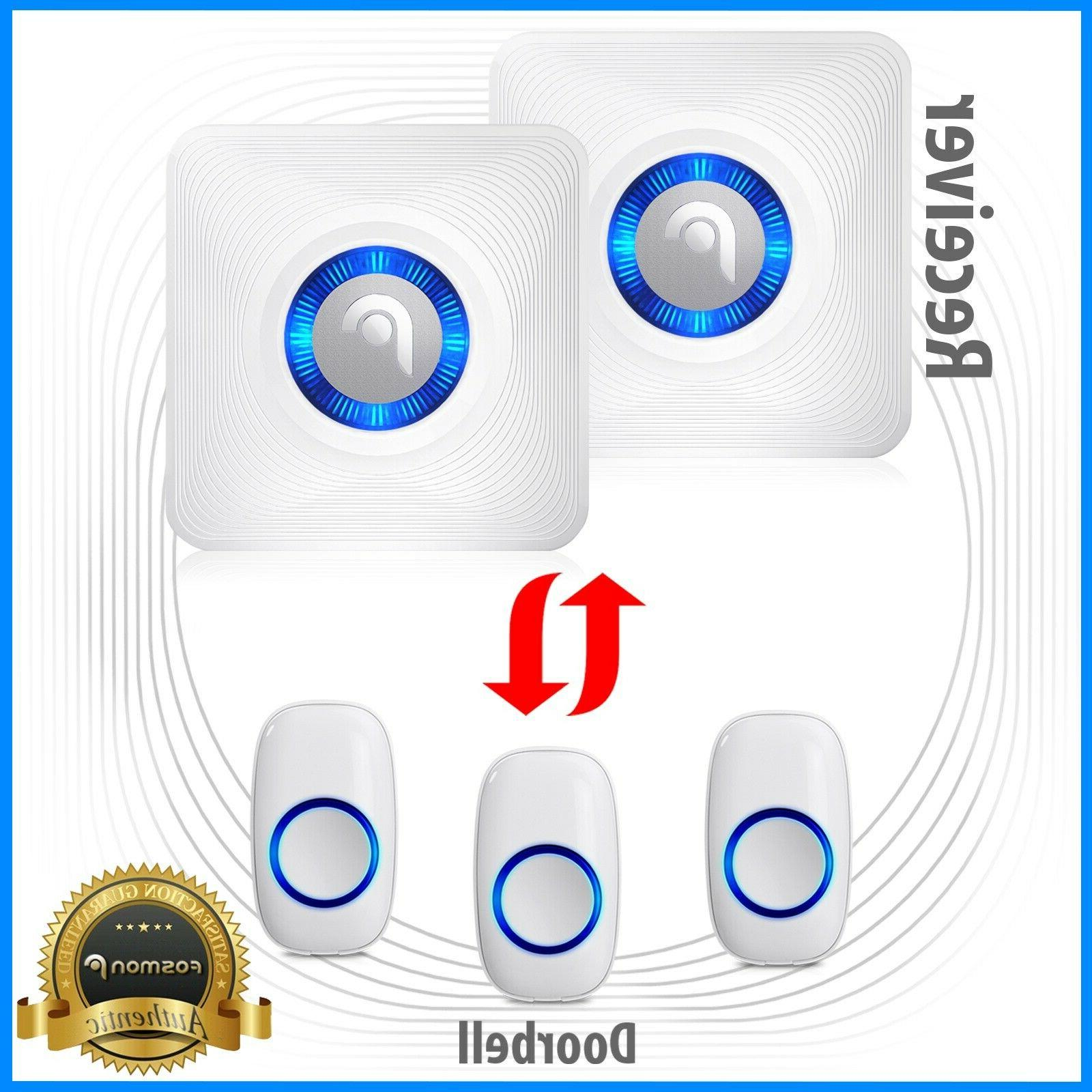 1000ft water resistant wireless doorbell chime plug