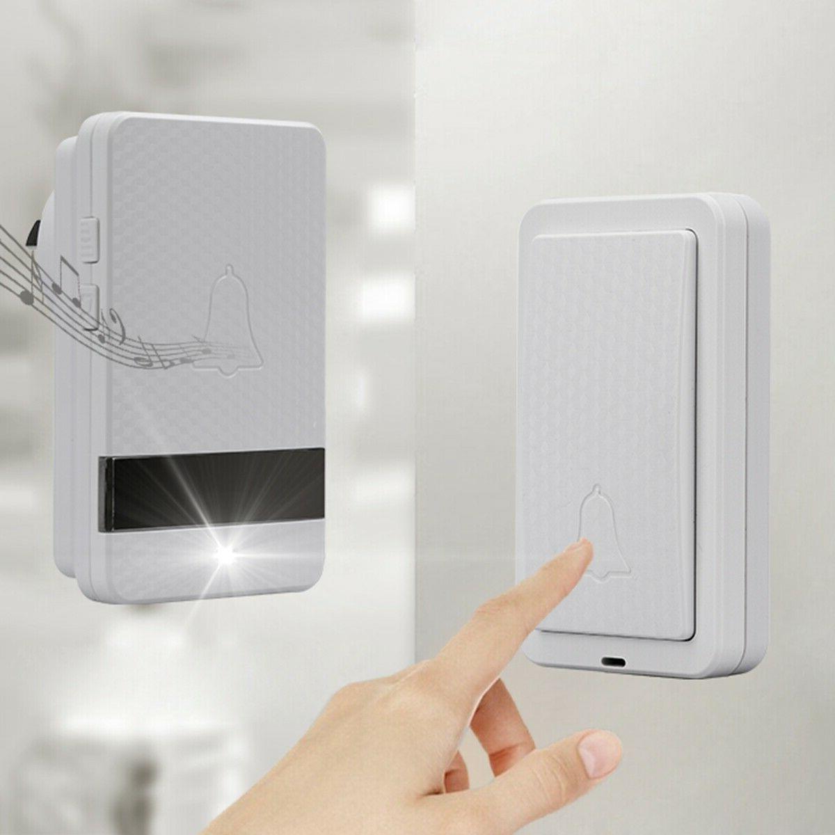 1000ft Wireless Doorbell Wall Plug Cordless Door Kit
