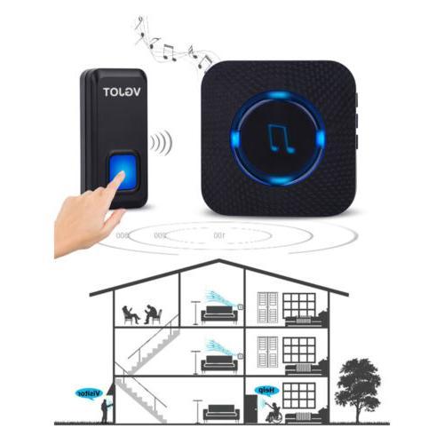 1000ft Wireless Doorbell Wall Cordless