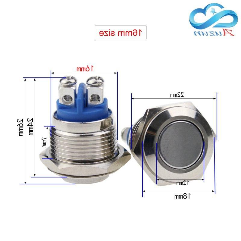 12/16/19/22mm <font><b>button</b></font> reset <font><b>doorbell</b></font> pin waterproof plating