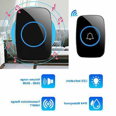 Wireless Chime Transmitter Plugin Receiver 1000FT Kit