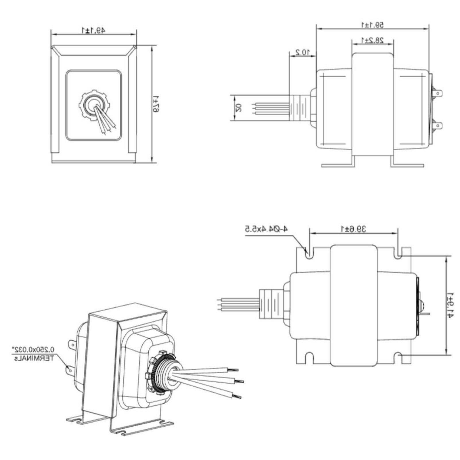 HQRP 30VA Transformer Multiple Doorbell