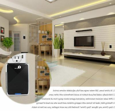 1by1 Hanging Wireless Doorbell Waterproof Buzzer Chime Ring