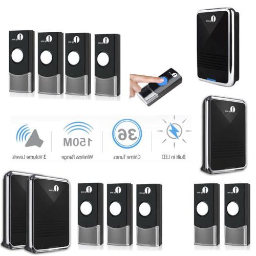1byone wireless doorbell battery chime portable 150m