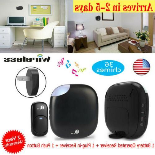 1byone wireless doorbell chime kit plug in