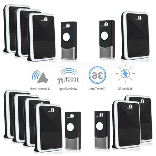 1byone wireless doorbell waterproof door bell 36