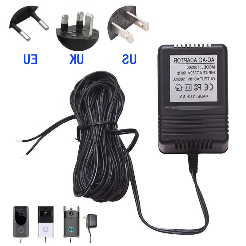 1X Adapter AC Wireless Video <font><b>Doorbell</b></font> Charger Power Supply 500mA Without <font><b>Doorbell</b></font>