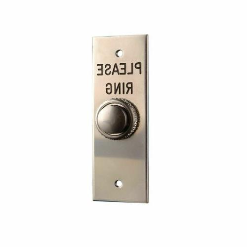 2201 5 wired door bell push engraved
