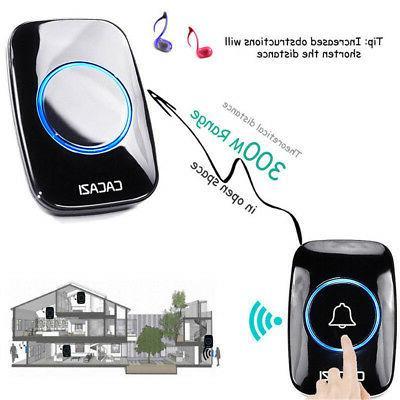 300M Wireless Doorbell Songs Chime Plug Home Room