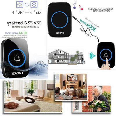 300M Waterproof LED Wireless Doorbell Chime Plug Home Room