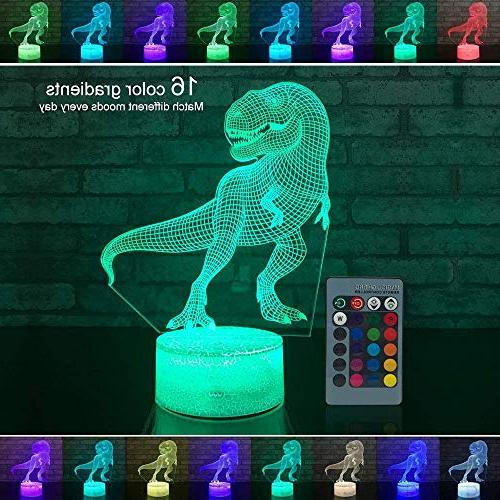 MSOO 3D Illuminated Lamp Night with Remote Control