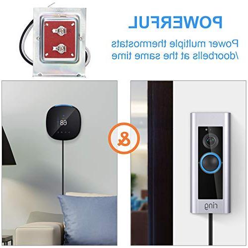 24V 40VA Thermostat Doorbell Transformer, Supply Compatible Ecobee, Sensi and Ring